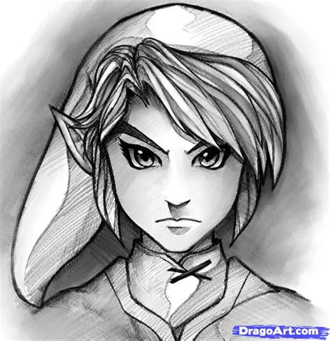 draw link easy step  step video game characters