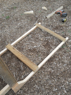 Goat Milking Stand First Cross Braces