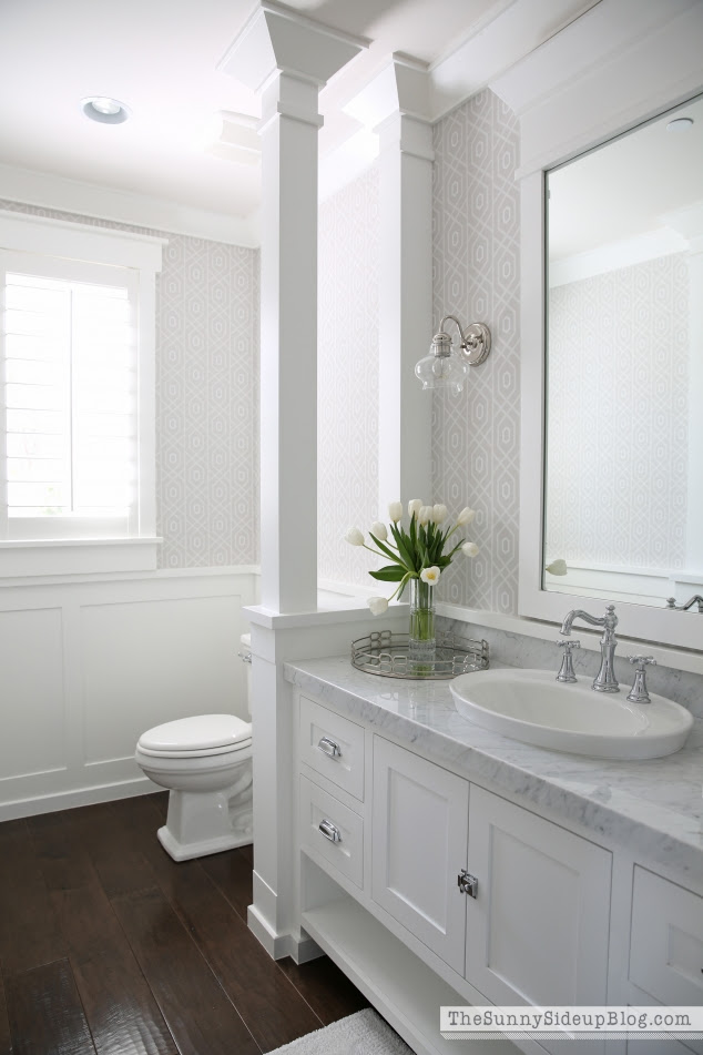 Spring in the Powder Bathroom - The Sunny Side Up Blog