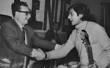 Con el Presidente      Salvador Allende