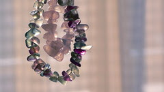 fluorite & rose quartz