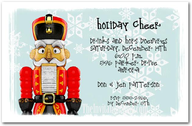 Nutcracker Holiday Theme Invitation