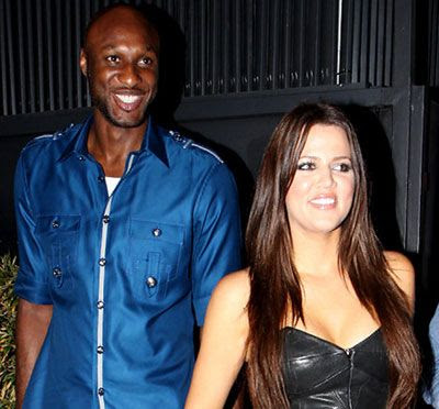 The Los Angeles Lakers' Lamar Odom with Khloe Kardashian.