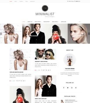 Minimalist Carousel Blogger Templates