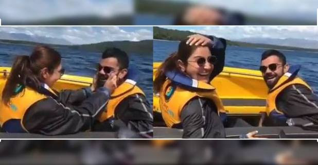 Video: Anushka pulling Virat's Cheeks and treating Him as a child is the best thing on the internet