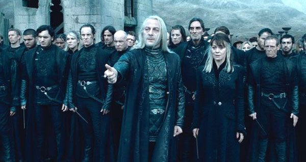 Lord Voldemort's minions in HARRY POTTER AND THE DEATHLY HALLOWS, Part 2.