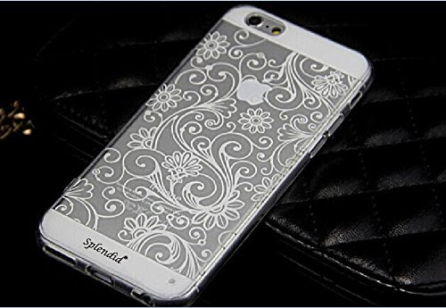 Iphone 6 See Through Design Case Flower Pattern Ultra Thin