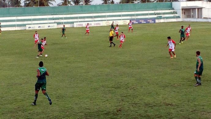 Alecrim vence jogo-treino contra seleção de Extremoz, no Ninho do Periquito (Foto: Divulgação/Alecrim)