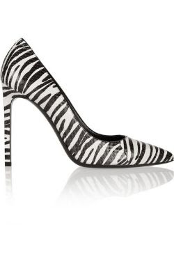 Saint Laurent Zebra Print Elaphe Pump