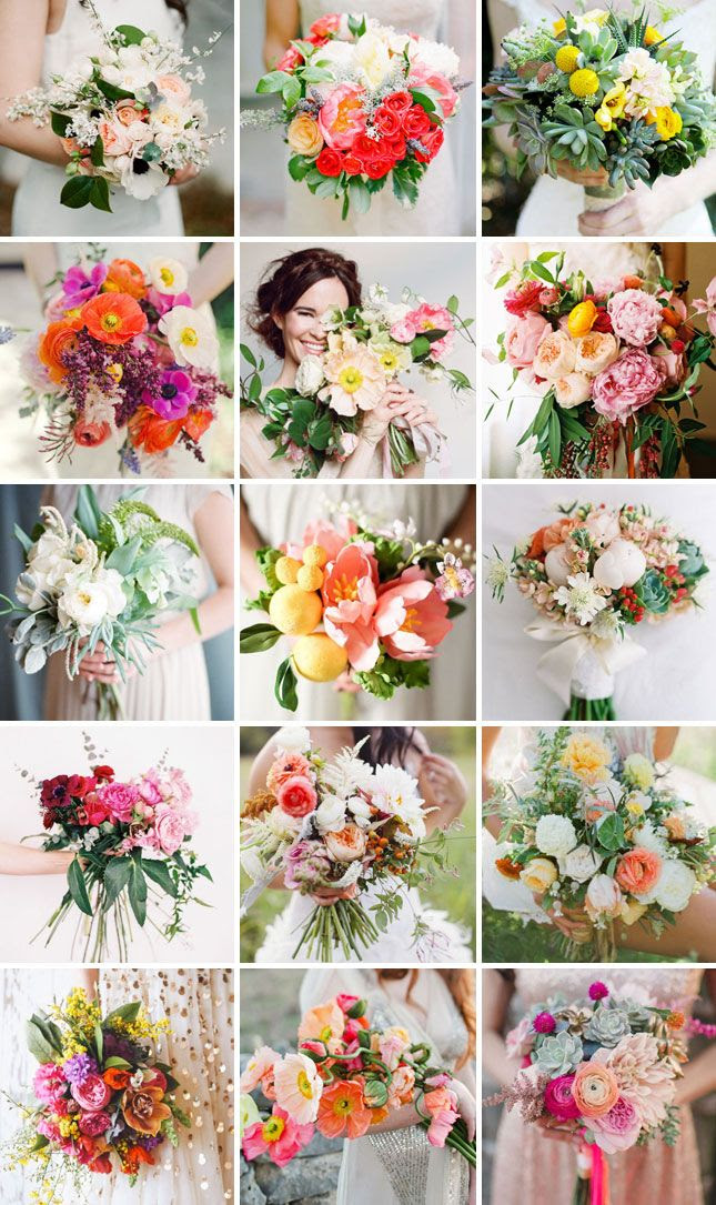 Swooning over all of these beautiful bridal bouquets.