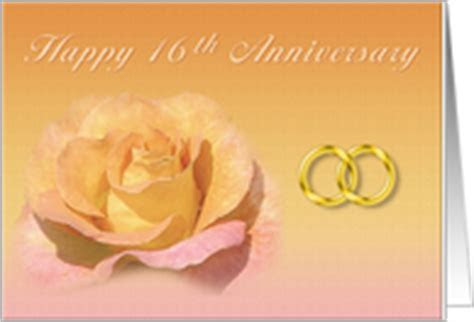 16th Wedding Anniversary Cards from Greeting Card Universe
