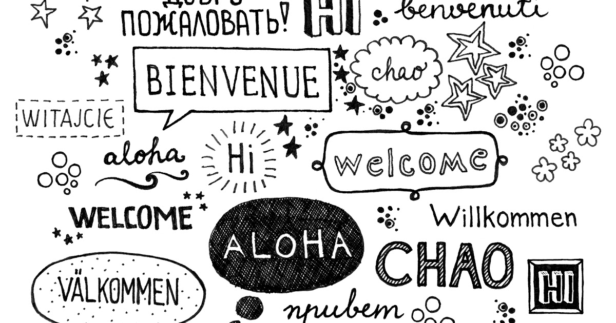 Image result for welcome in many languages pdf