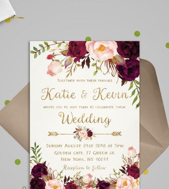 27+ Kumpulan Desain Undangan Blangko Undangan Pernikahan ...