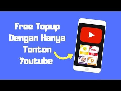 Topup Percuma Dengan Hanya Tonton Youtube