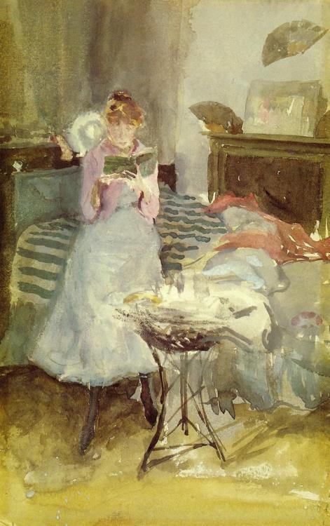 labellefilleart:  Pink Note: The Novelette, James Abbott McNeill Whistler