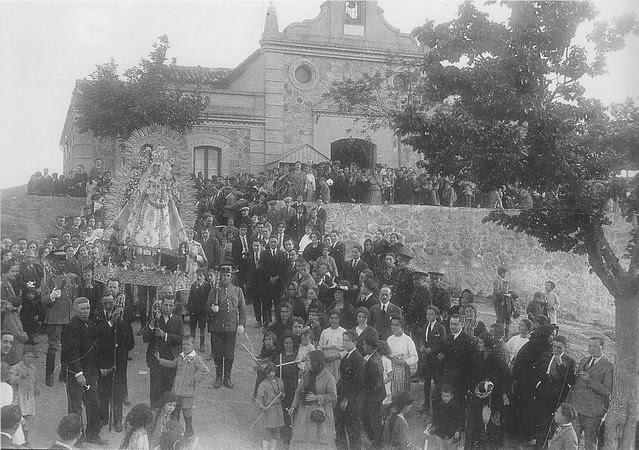 Romería de la Virgen de la Cabeza a comienzos del siglo XX. Foto Rodríguez
