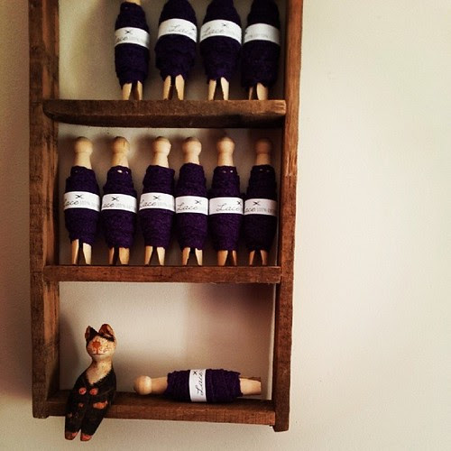 My biggest girl Connie(7) has been playing with wood and making me things! ~ this is shelf #2, isn't it just perfect?