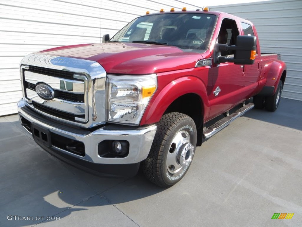 2014 Ruby Red Metallic Ford F350 Super Duty Lariat Crew Cab 4x4 Dually ...