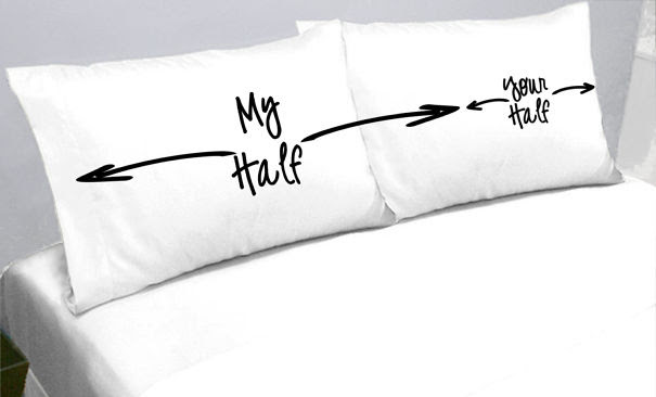 His And Her's Half Of The Bed Pillows