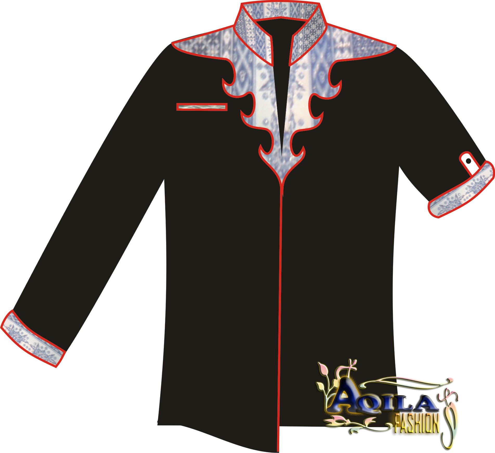 Desain Baju Hem Batik: Gambar Desain Baju Long Dress