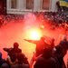 Protesters clashed with the police outside the Ukrainian president's office in Kiev on Sunday.