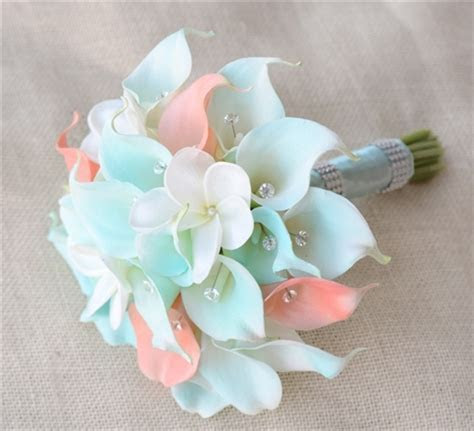 Natural Touch Tiffany and Peach Small Calla Lilies with