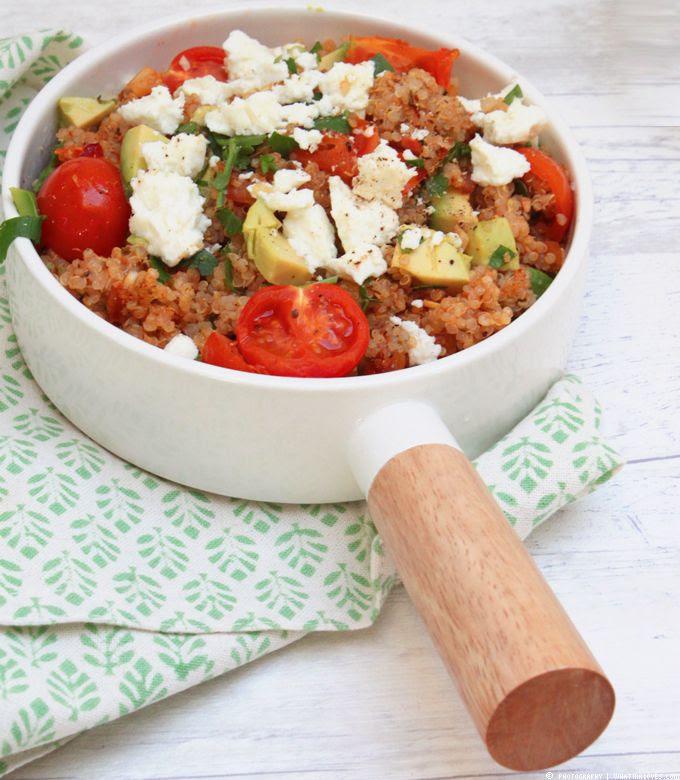 Quinoapfanne, Feta, Delicious Quinoa, Healthy, Fingerfood, Snacks