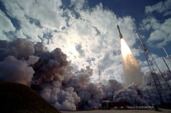 The Atlas V rocket carrying New Horizons lifts off from Cape Canaveral Air Force Station in Florida on January 19, 2006.