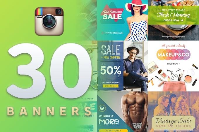 30 Premium Instagram Banners Templates
