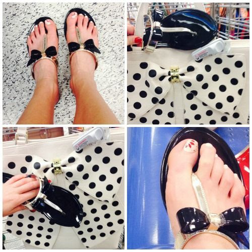 Black and Gold Bow Tie Flat Sandals at Ross Dress for Less