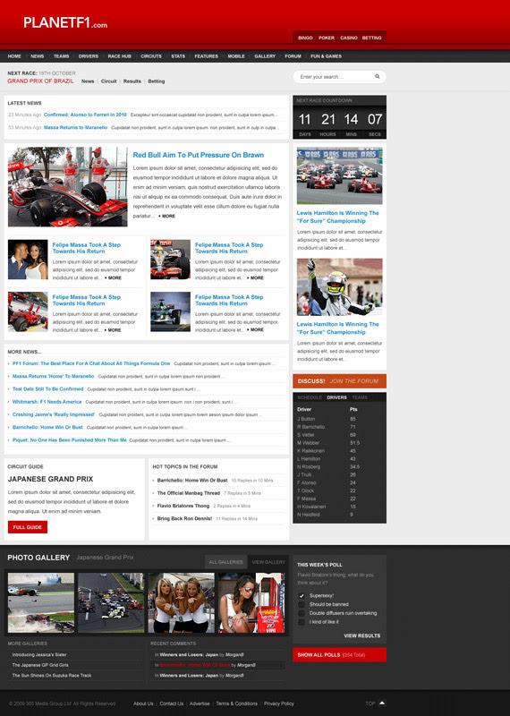 Planet-f1-inspiration-wordpress-blog-designs