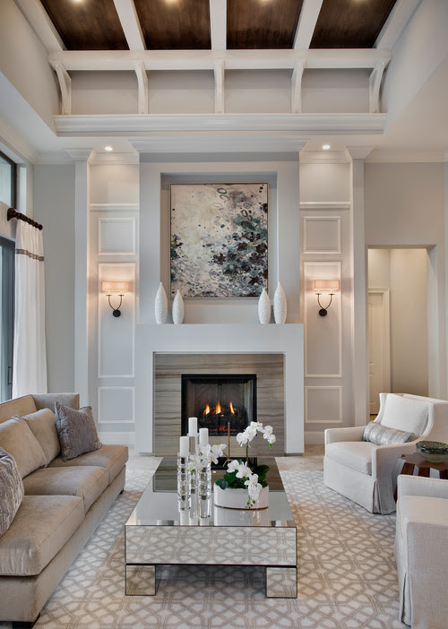 Transitional Living Room by Naples Architects & Building Designers Weber Design Group, Inc.