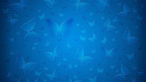 Download Butterfly Background Blue Pattern 4K Wallpaper