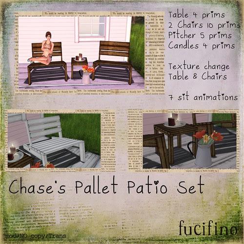fucifino.Chase's Pallet Patio Set