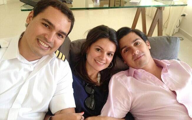 Thomaz Alckmin (à esquerda), ao lado dos irmãos Sophia e Geraldo. Foto: Reprodução/Facebook