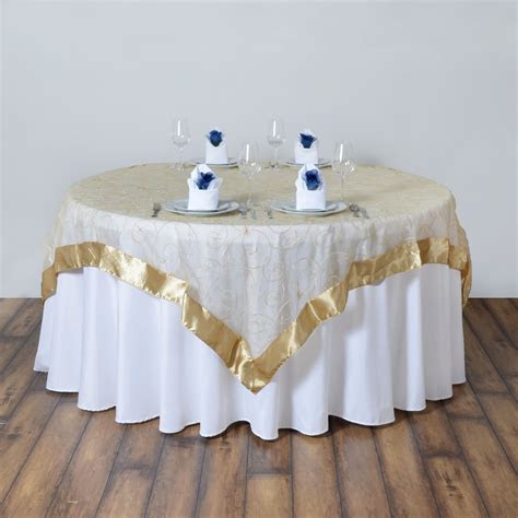 embroidered sheer organza table overlay unique