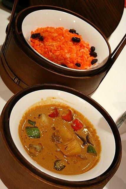 Briyani rice with (Garoupa) Fish Fillet Curry