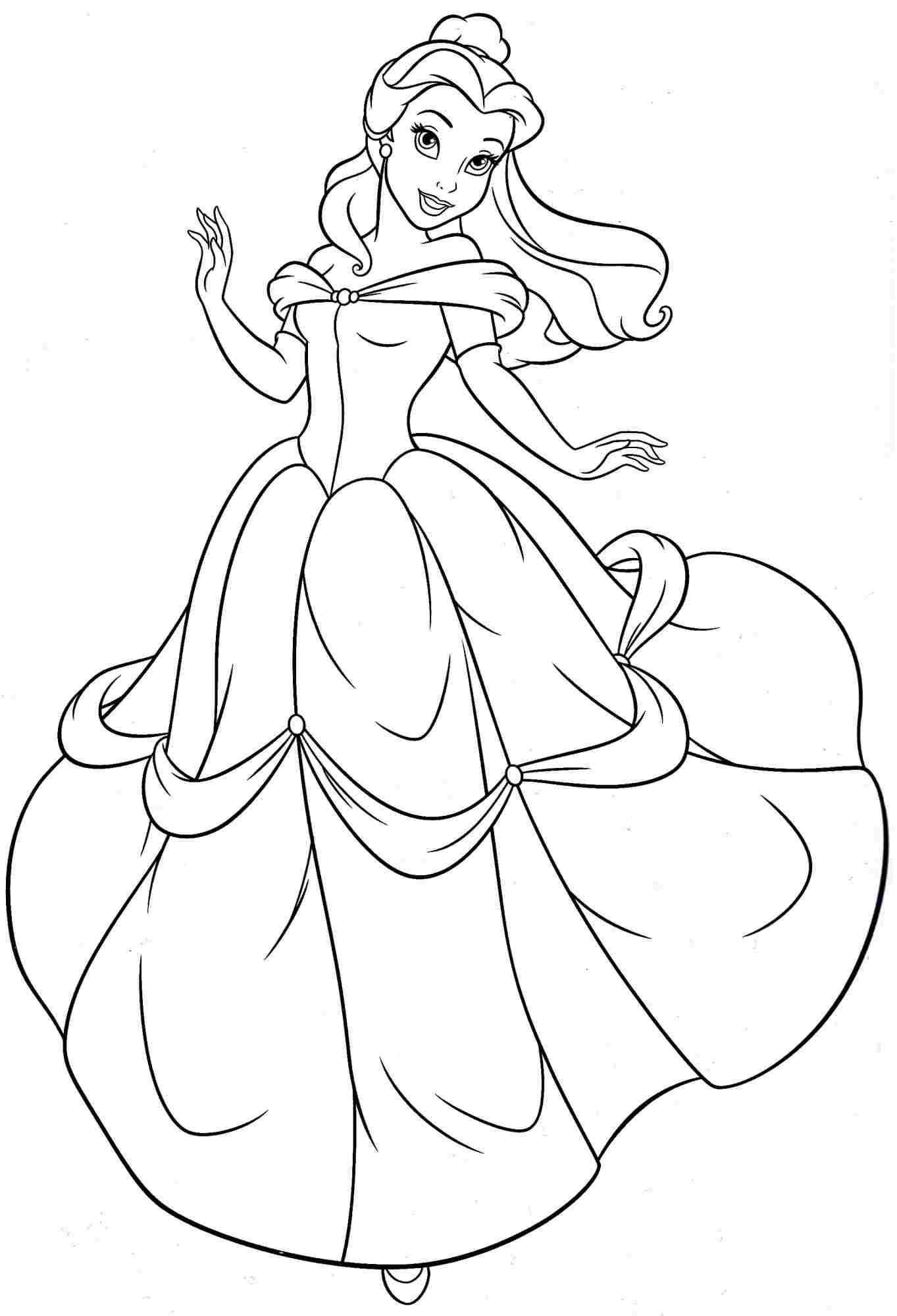 Princess belle coloring pages to download and print for free