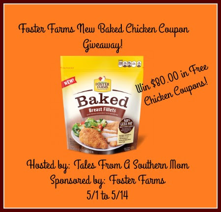 Enter the Foster Farms New Baked Chicken Coupon Giveaway. Ends 5/14
