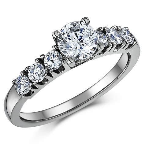 Triple Titanium CZ Bridal Set Engagement Eternity and