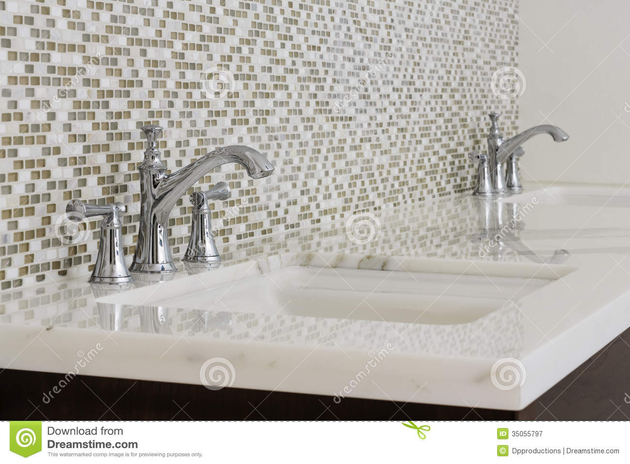 Contemporary Twin Bathroom Sinks And Fixtures Royalty Free Stock ...