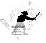 Pirate Errol Bonny-Baby Locke Silhouette Yard Art Woodworking Pattern - fee plans from WoodworkersWorkshop® Online Store - swords,pirates,skaliwags,shadow art,Halloween,silhouettes,yard art,painting wood crafts,scrollsawing patterns,drawings,plywood,plywoodworking plans,woodworkers projects,workshop blueprints
