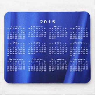 Blue Silk Fabric Abstract 2015 Calendar Mousepad
