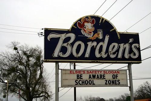 borden's neon sign