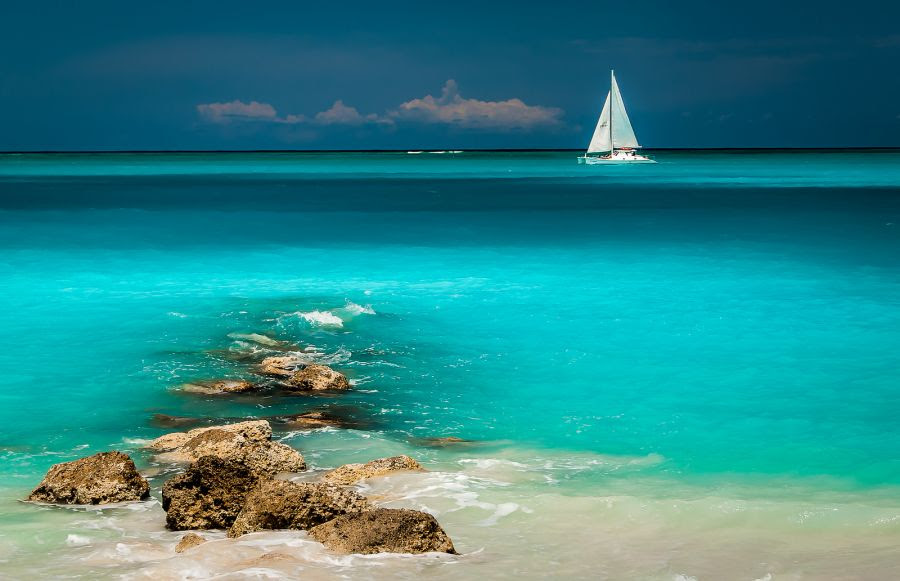 Providenciales Island Turks and Caicos Islands VP5M VP5/K4QPL Leeward Beach.