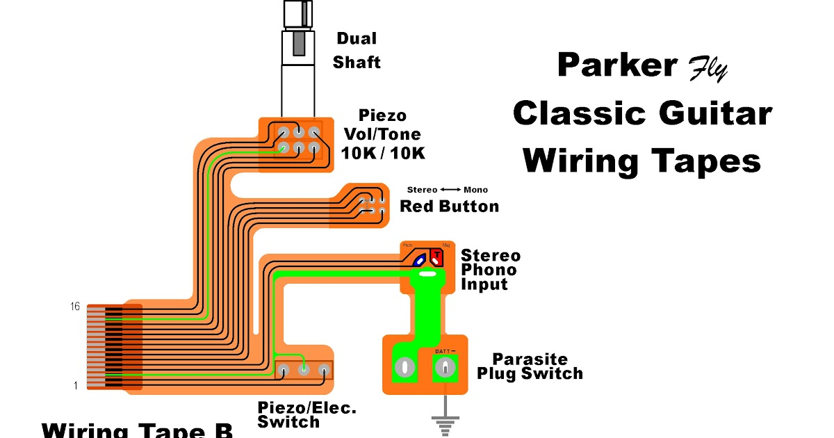 Parker Guitar Wiring Diagram