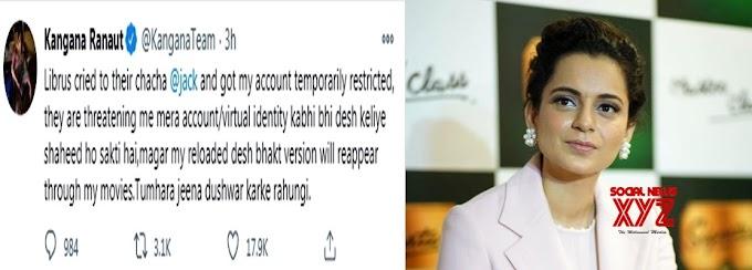 Kangana Ranaut's Twitter account restricted temporarily