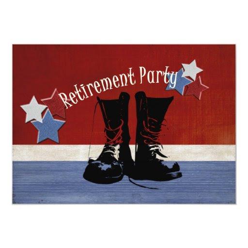 "Military Retirement Party 5"" X 7"" Invitation Card   Zazzle"