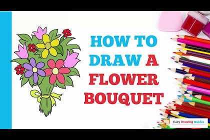 Flower Bouquet Drawing For Kids