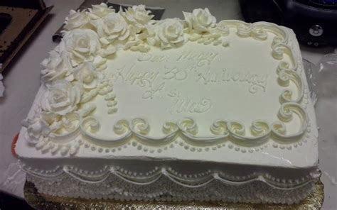 25th Wedding Anniversary Sheet Cakes   Elegant Anniversary